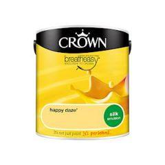 Crown Breatheasy Silk Emulsion - Happy Daze - 2.5Litre