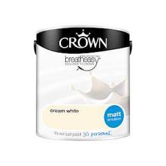Crown Breatheasy Matt Emulsion - 2.5 Litre - Cream White