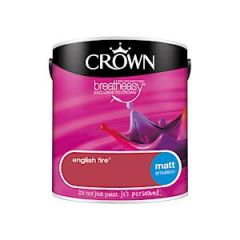 Crown Breatheasy Matt Emulsion  - 2.5 Litre - English Fire