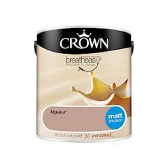 Crown Breatheasy Matt Emulsion - 2.5 Litre - Liqueur