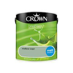 Crown Breatheasy Matt Emulsion  - 2.5 Litre - Mellow Sage