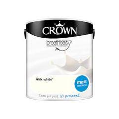 Crown Breatheasy Matt Emulsion  - 2.5 Litre - Milk White