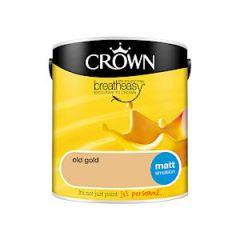Crown Breatheasy Matt Emulsion  - 2.5 Litre - Old Gold