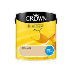 Crown Breatheasy Matt Emulsion - 2.5 Litre - Pale Gold