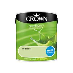 Crown Breatheasy Matt Emulsion - 2.5 Litre - Soft Lime