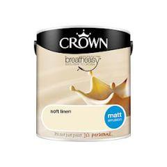 Crown Breatheasy Matt Emulsion - 2.5 Litre - Soft Linen