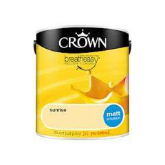 Crown Breatheasy Matt Emulsion - 2.5 Litre - Sunrise