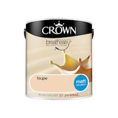 Crown Breatheasy Matt Emulsion - 2.5 Litre - Taupe