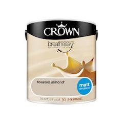 Crown Breatheasy Matt Emulsion - 2.5 Litre - Toasted Almond