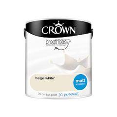 Crown Breatheasy Matt Emulsion - 2.5 Litre - Beige White