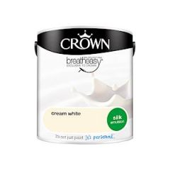 Crown Breatheasy Silk Emulsion - 2.5 Litre - Cream White