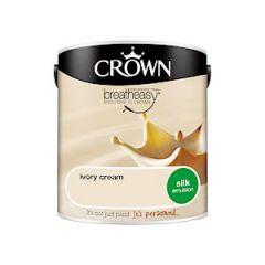 Crown Breatheasy Silk Emulsion - 2.5 Litre - Ivory Cream