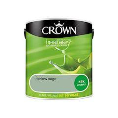 Crown Breatheasy Silk Emulsion - 2.5 Litre - Mellow Sage