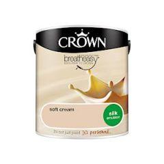 Crown Breatheasy Silk Emulsion - 2.5 Litre - Soft Cream