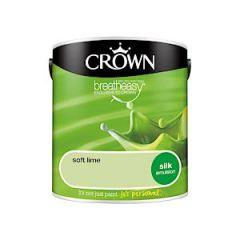 Crown Breatheasy Silk Emulsion - 2.5 Litre - Soft Lime