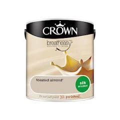 Crown Breatheasy Silk Emulsion - 2.5 Litre - Toasted Almond