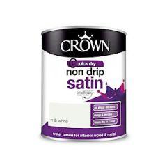 Crown  Non Drip Satin - 750Ml - Milk White