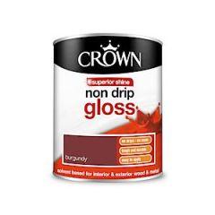 Crown Non Drip Gloss - 750Ml - Burgundy