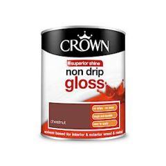 Crown Non Drip Gloss - 750Ml - Chestnut