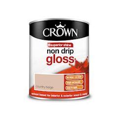 Crown Non Drip Gloss - 750Ml - Country Beige