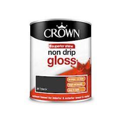 Crown Non Drip Gloss - 750Ml - Jet Black