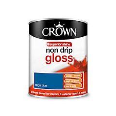 Crown Non Drip Gloss - 750Ml - Regal Blue