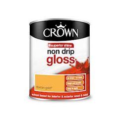 Crown Non Drip Gloss - 750Ml - Tibetan Gold