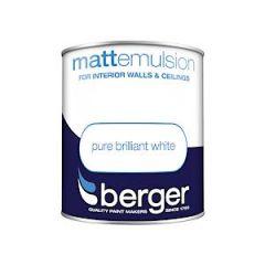 Berger Matt Emulsion - 1L - Bril White