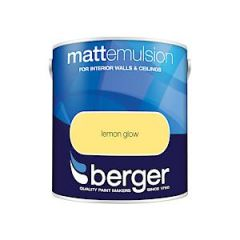 Berger Matt Emulsion - 2.5L - Lemon Glow