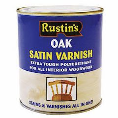 Poly Varnish Satin Oak 250Ml