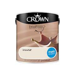 Crown Breatheasy Matt Emulsion - 2.5 Litre - Snowfall