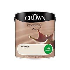 Crown Breatheasy Silk Emulsion - 2.5 Litre - Snowfall