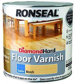 Diamond Hard Coloured Floor Varnish Light Oak 2.5L