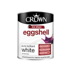 Crown Eggshell Pure Brilliant White 750Ml