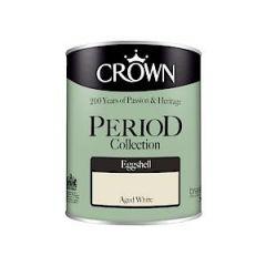 Crown Period Colours Eggshell - 750Ml - Aged White