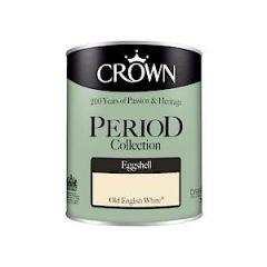 Crown Period Colours Eggshell - 750Ml - Old English White