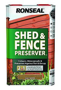 Shed And Fence Preserver Light Brown 5L