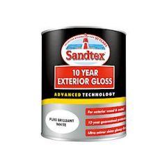 Sandtex 10Year Gloss Pure Brilliant White 750Ml