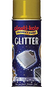 Plastikote Glitter Spray Silver 400Ml