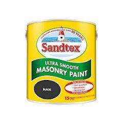 Sandtex Microseal Smooth Masonry - 2.5L - Black