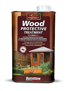 Barrettine Wood Protect Goldn Brown 1L