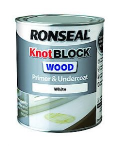Ronseal Knotblock Prim+Ucoat Wh 750Ml