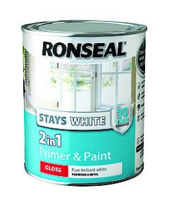 Ronseal Stays White 2In1 Satin 750Ml