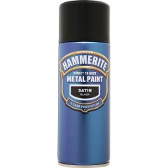 Direct To Rust Metal Paint Satin Black 400Ml