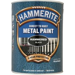Direct To Rust Metal Paint Hammered Black 5 Litre