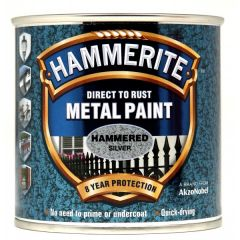 Direct To Rust Metal Paint Hammered Silver 250Ml