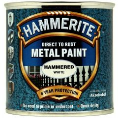 Direct To Rust Metal Paint Hammered White 250Ml