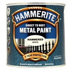 Direct To Rust Metal Paint Hammered White 2.5 Litre