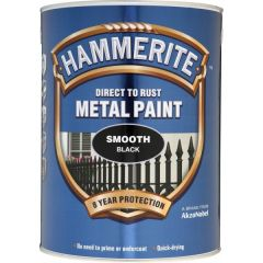 Direct To Rust Metal Paint Smooth Black 5 Litre