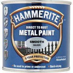 Direct To Rust Metal Paint Smooth Silver 250Ml